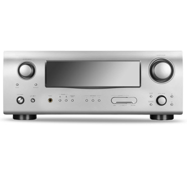 Hi-Tech AV receiver isolated on white background